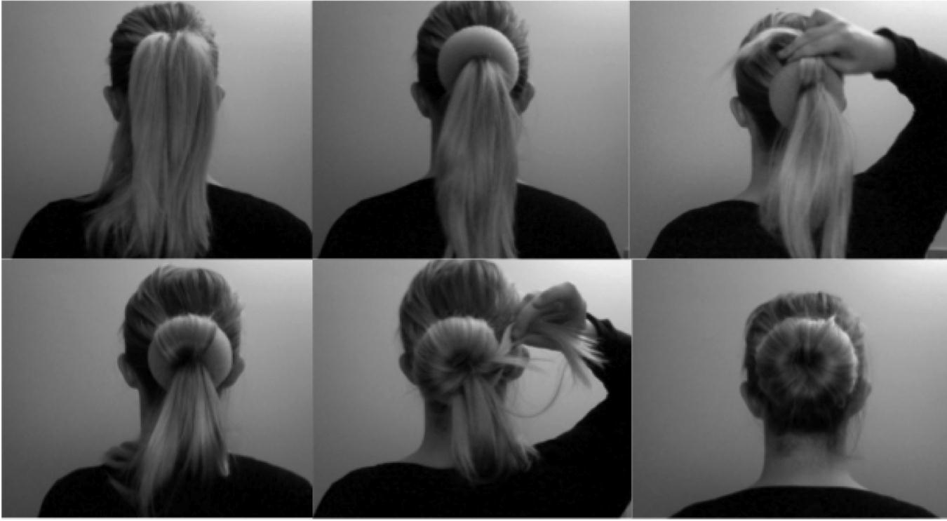 how to use hair bun donut